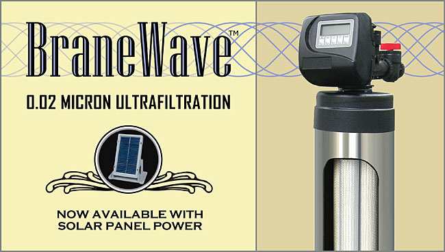 SWT's BraneWave UF Systems are now available with Solar Panel Power